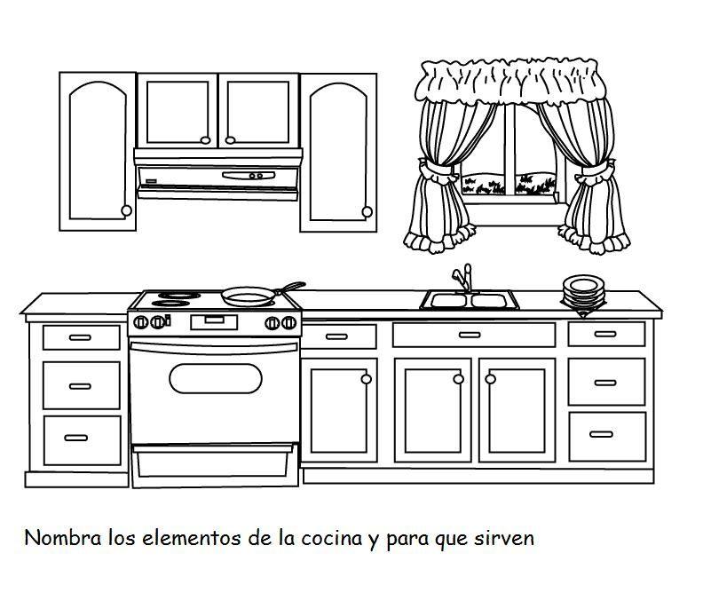 La manzana la comida - Dibujos de cocinas ...