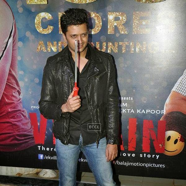 Riteish Deshmukh attends the success party of Bollywood movie 'Ek Villain', held at Ekta Kapoor's residence on July 15, 2014.(Pic: Viral Bhayani)