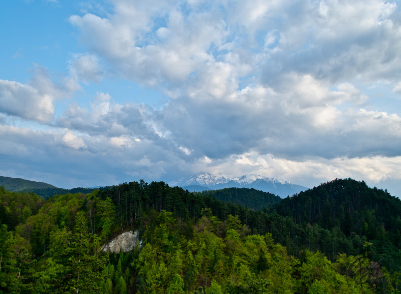 Carpathian mountains as seen from the Rasnov fortress