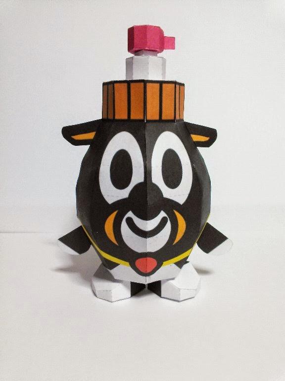Ikebei Papercraft Mascot