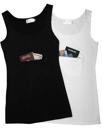 Clever Travel Companion Tank tops, theft-proof clothes, travel safety clothes