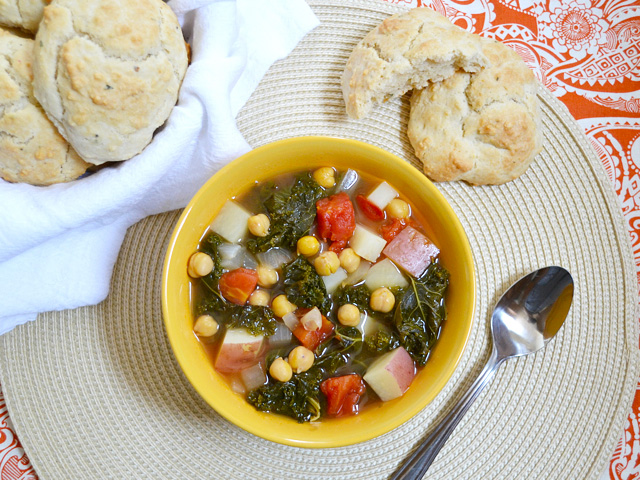 kale & chickpea soup