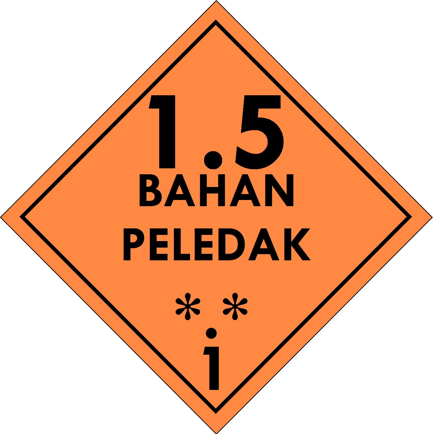 Label (Simbol) Transportasi Bahan (Material) Peledak 1.5