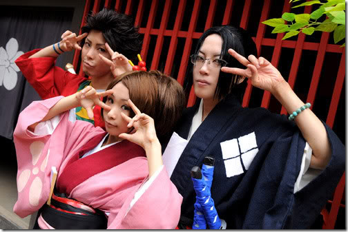 samurai champloo cosplay - mugen, fuu, and jin