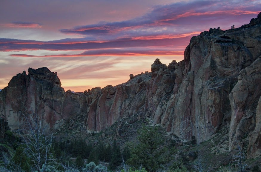 Sunset over Smith Rock
