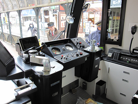 札幌市電 A1201号 運転席