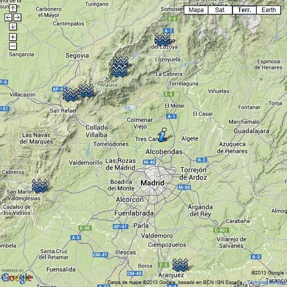 Piscinas naturales cerca de Madrid - Pincha en la imagen para ver el mapa