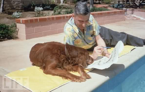 Dr Seuss and a dog