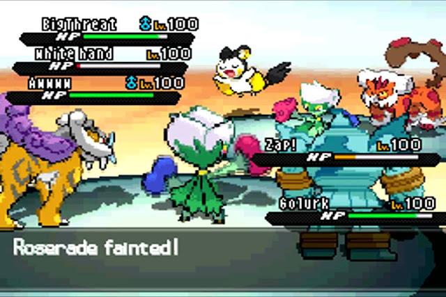 Triple battle trong Pokemon Black/White