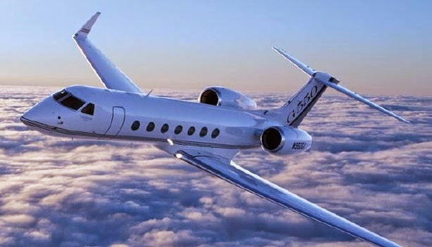 Tiger Woods Personal Aircraft Gulfstream S550