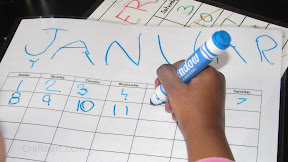 Kids can make their own Dry erase Calendar