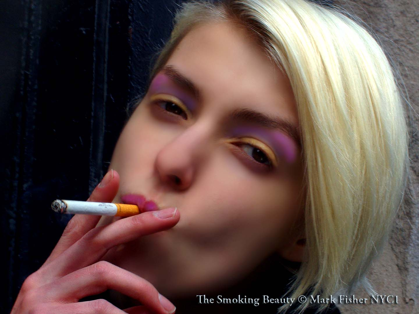 Photo of the in Belgium born Taurus, Stella Maxwell smoking in 2017 at age 26