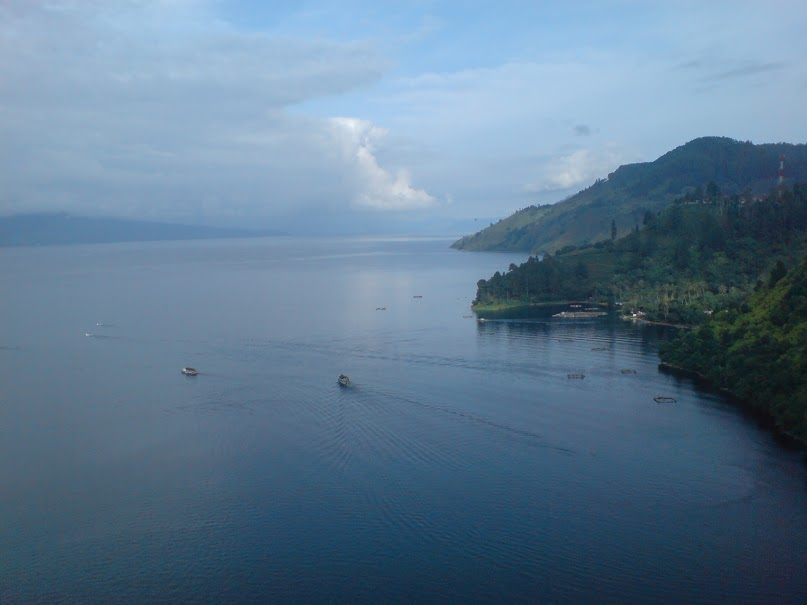A Breath-taking Sight of Toba Lake from Nearby Street