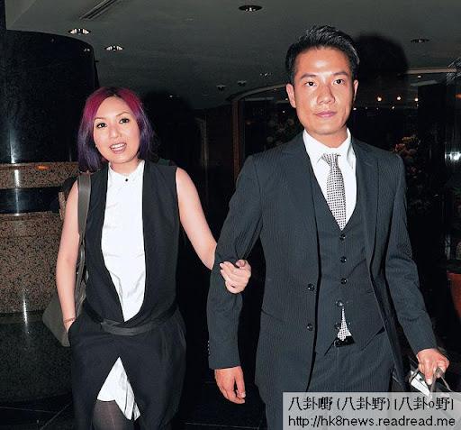 上週五,千嬅出席丁子高表妹的 wedding party,著無袖衫騷減肥成果。