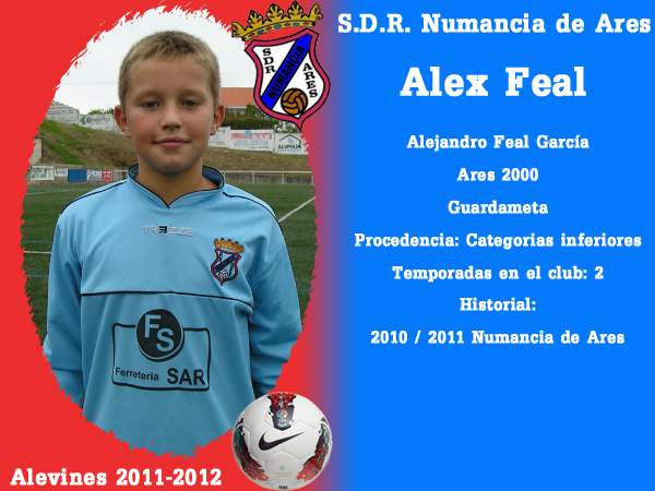 ADR Numancia de Ares. Alevíns 2011-2012. ALEX FEAL
