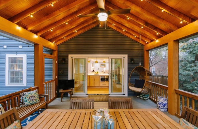 covered/screened porch addition