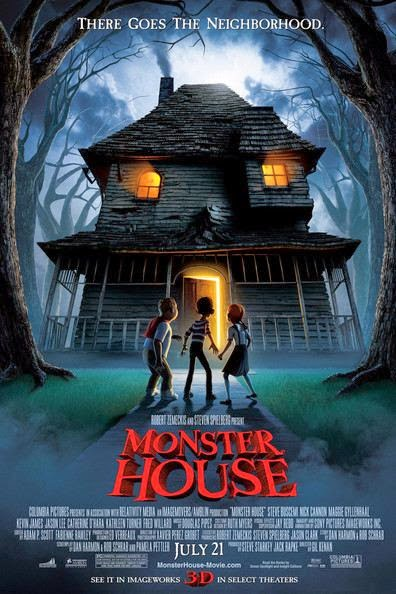 Poster Of Monster House (2006) Full Movie Hindi Dubbed Free Download Watch Online At Alldownloads4u.Com