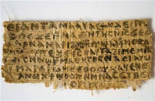Scroll That Mentions Jesus Wife Is Ancient