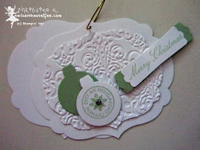 stampin up, case a christmas card, ornament keepsakes, come to bethlehem, weihnachten, framelits