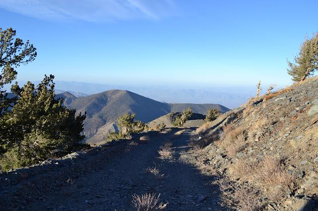road down from Rogers Peak