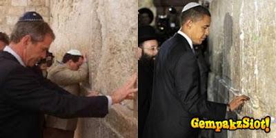 obama+dan+bush Mengapa Yahudi Terlalu Inginkan Baitulmaqdis?