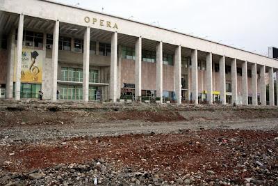 Opera house in Tirana Albania