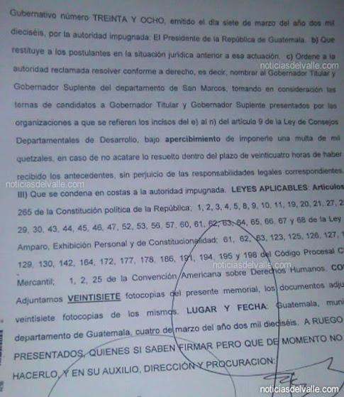 Interponen amparo contra presidente Morales