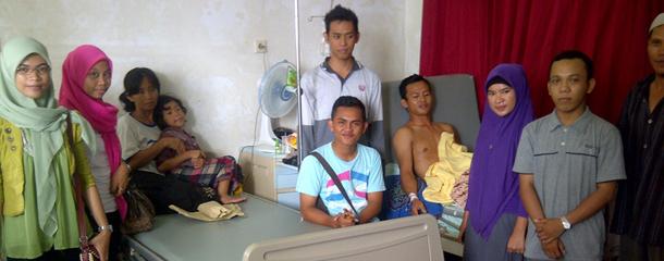 Penyerahan Dana Santunan di RSUD Panglima Sebaya