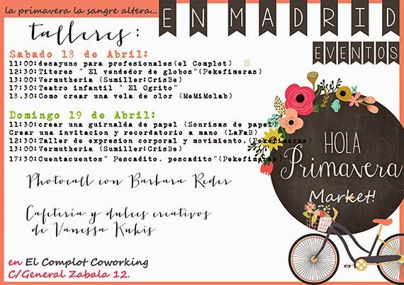 Hola Primavera Market, 18 y 19 de abril 2015