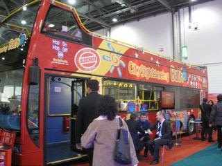 City Sightseeing Bus at the World Travel Market in London