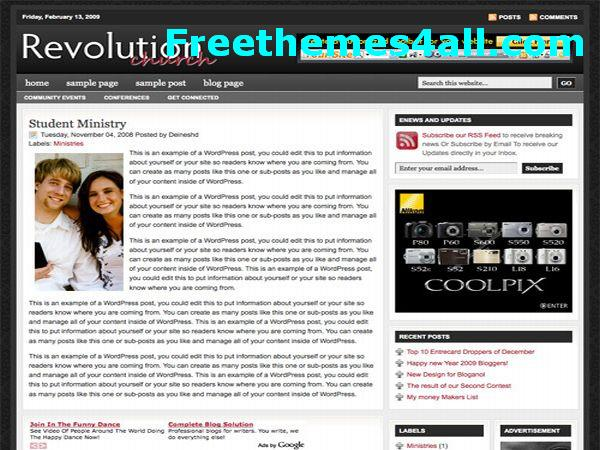 Free Blogger News Blog Magazine Template