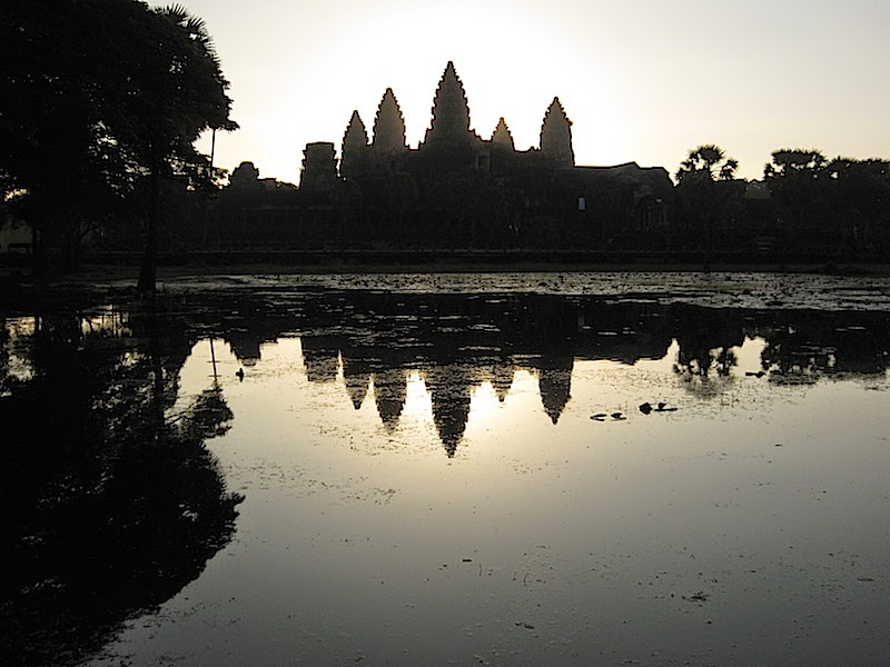 sunrise reflection of Angkor Wat