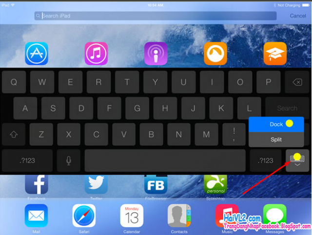 dock keyboard ipad