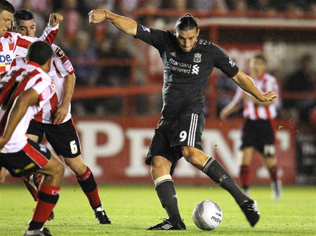 Andy Carroll, Exeter - Liverpool