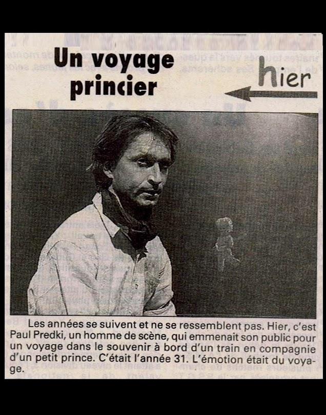 Paul Predki - Comédie de Saint-Etienne - Un petit Prince dans un train