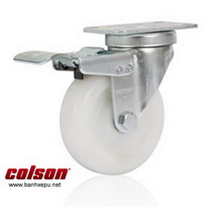 Bánh xe đẩy có khóa Nylon chịu tải 82kg | S2-3056-255C-B4W