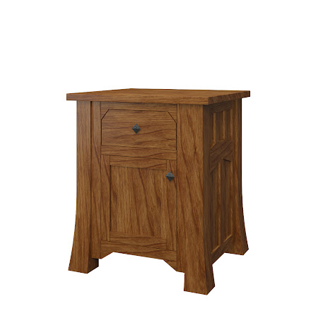 Edmonton Nightstand with Door, Dakota Cherry