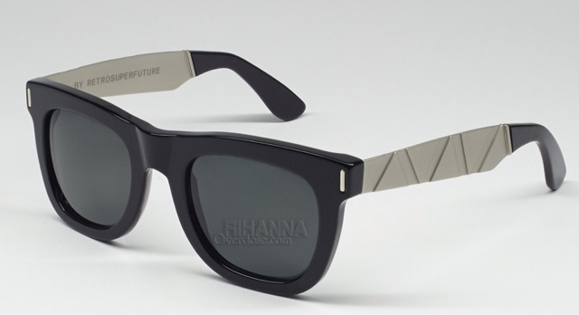 0efa0b297425 Rihanna began her look with a pair of sunglasses from Super. She opted for  a black and gold pair of Ciccio Francis Saldatura s.