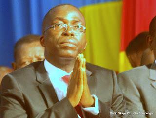 Matata Ponyo Mapon, premier ministre de la RDC le 07/05/2012 au Palais du peuple à Kinshasa, lors de la présentation du programme de son gouvernement à l'Assemblée nationale. Radio Okapi/ Ph. John Bompengo