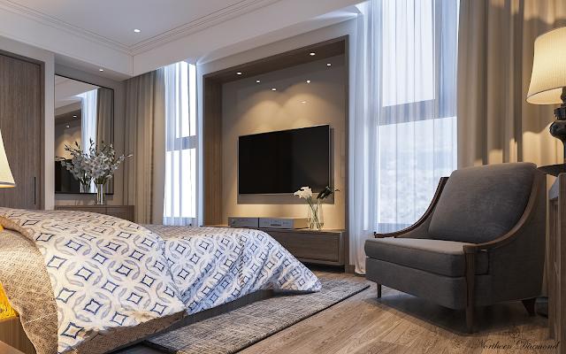 Phòng ngủ chung cư Northern Diamond