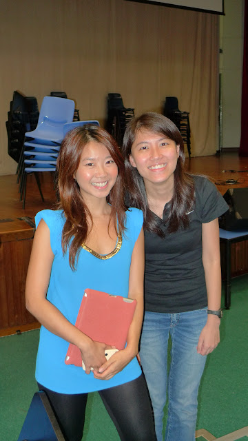Kexin (at left) with her PD Tutor, Ms Corrine Zhu