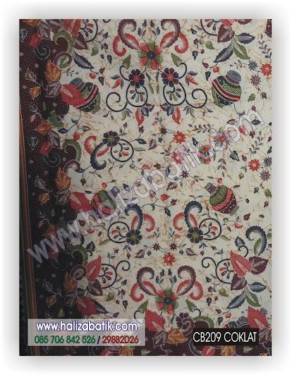 Seragam Batik, Baju Grosir, Seragam Batik Kantor, CB209 COKLAT