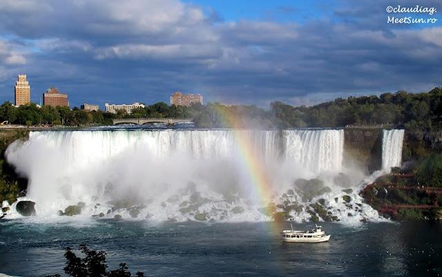 curcubeu la Niagara: Cascada Americana si Valul Miresei