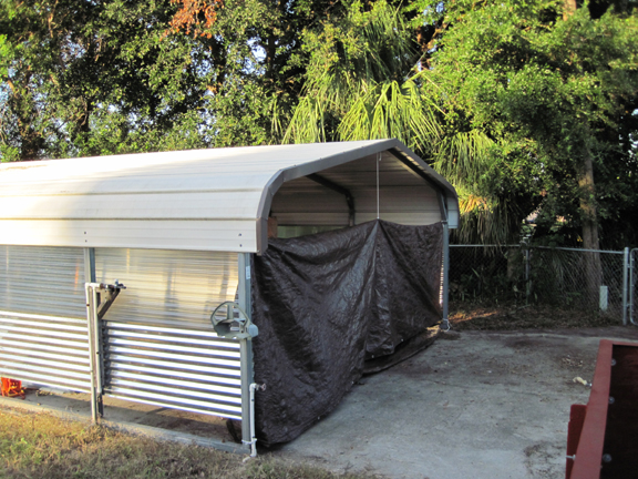Lets Talk About A Metal Carport As A Backyard Workshop