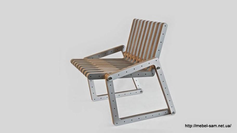 Сборное фанерное кресло вид спереди