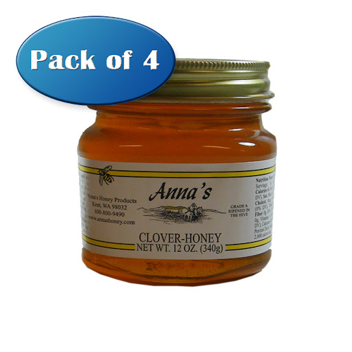 Anna's Honey Gourmet Clover Honey, 12 oz Pint Jar - Grade A, Natural, Raw - by Anna's Honey (Pack of 4) at Sears.com