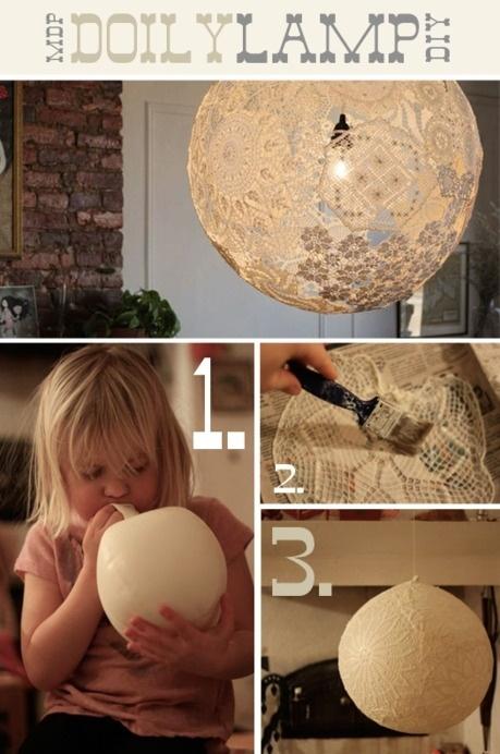 DOILY Lamp DIY
