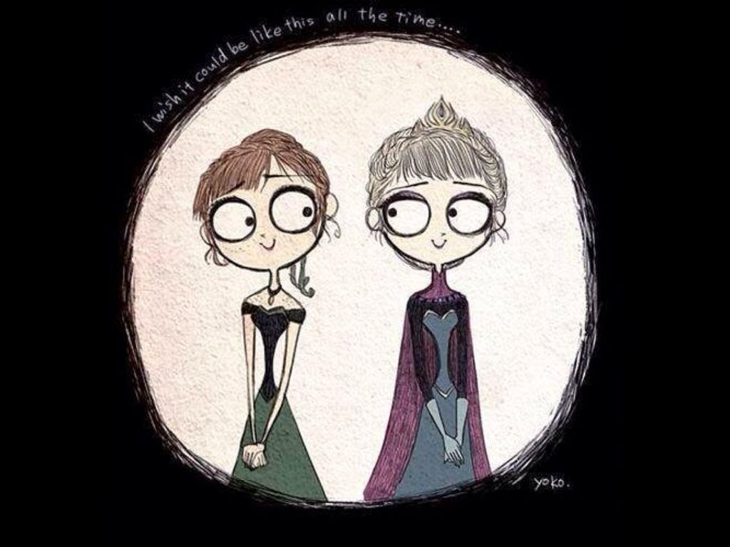 Anna and Elsa  made with Sketches