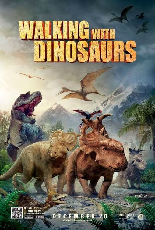 Poster Of English Movie Walking with Dinosaurs (2013) Free Download Full New Hollywood Movie Watch Online At Alldownloads4u.Com