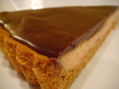 Chocolate-peanut butter mousse tart